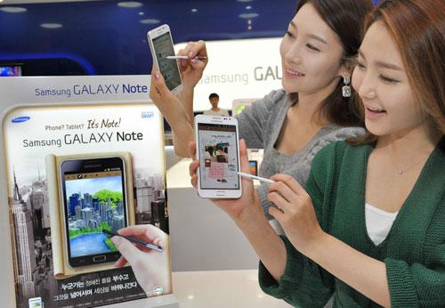 Samsung Galaxy Note в белом корпусе