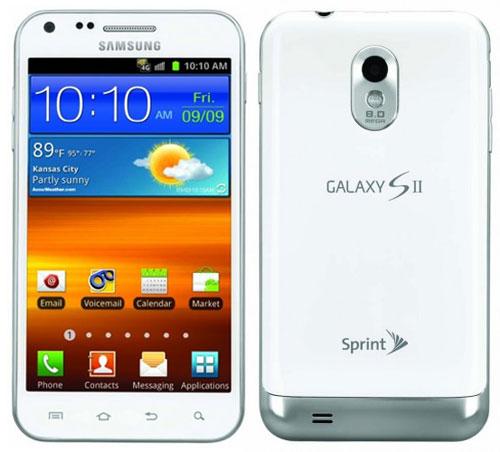 Белоснежный смартфон Samsung Galaxy S II