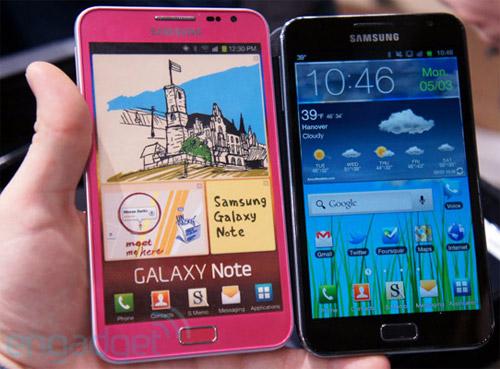 Розовый Samsung Galaxy Note