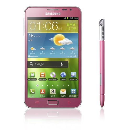 Розовый Galaxy Note