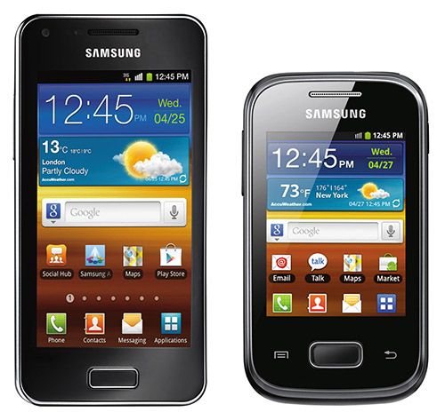 Смартфоны Galaxy S Advance и Galaxy Pocket