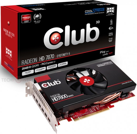 Графический ускоритель Club 3D Radeon HD 7870 Eyefinity 6