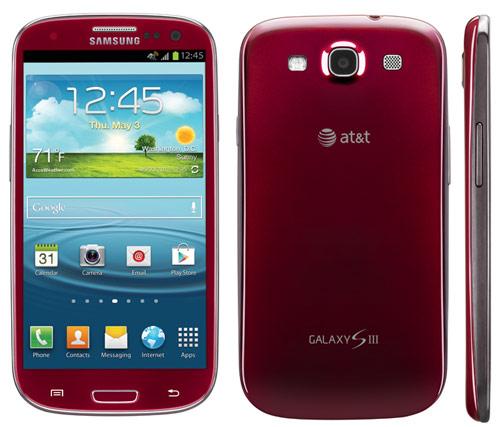 Красный Samsung Galaxy S III