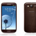 Samsung Galaxy S III в корпусе цвета Коричневый Янтарь