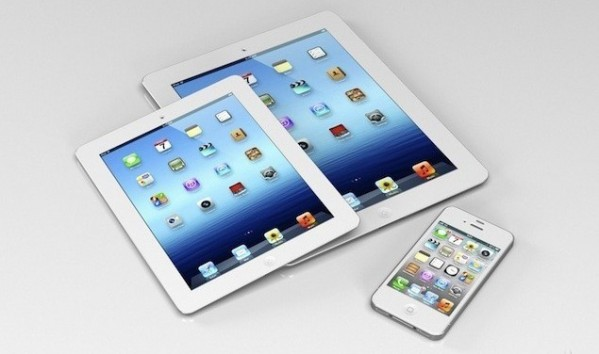 Гаджеты Apple: планшет Apple iPad 3, планшет iPad Mini и смартфон Apple iPhone 5