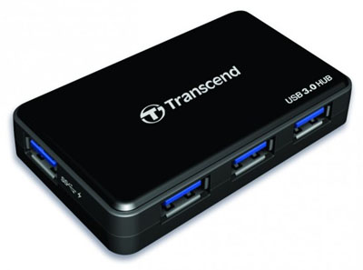 Концентратор с 4 портами и поддержкой USB 3.0 Transcend HUB3