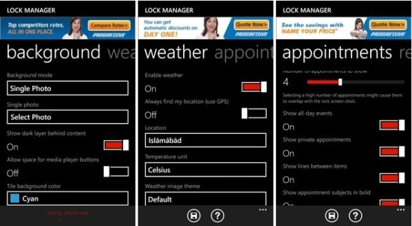 Lock Manager для Windows Phone 8