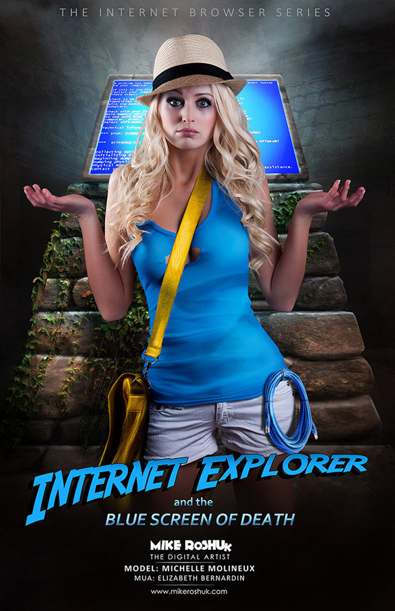 Девушка Internet Explorer
