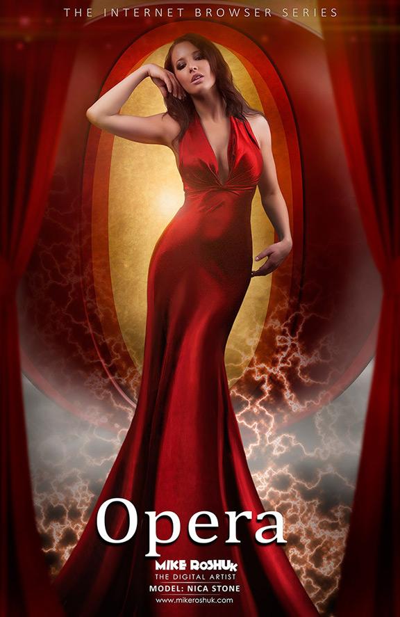 Девушка Opera