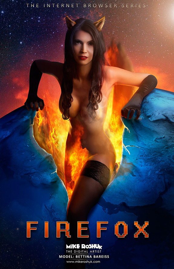 Девушка FireFox
