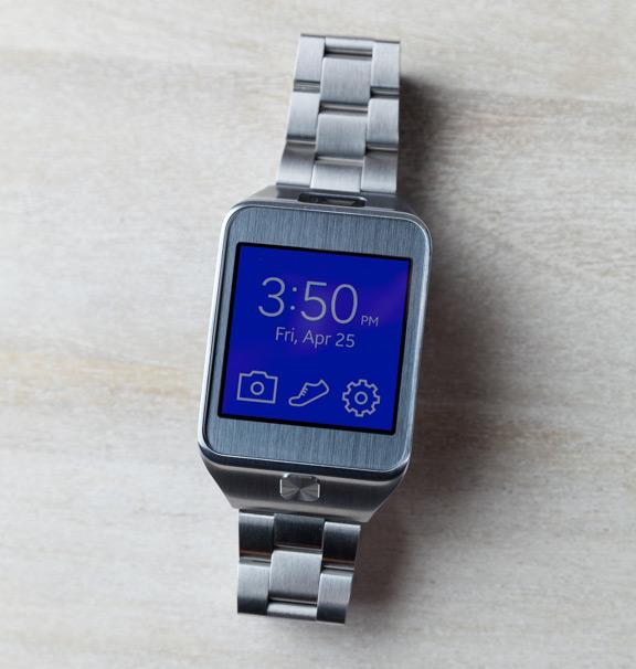 Samsung Galaxy Gear 2 со стальным ремешком