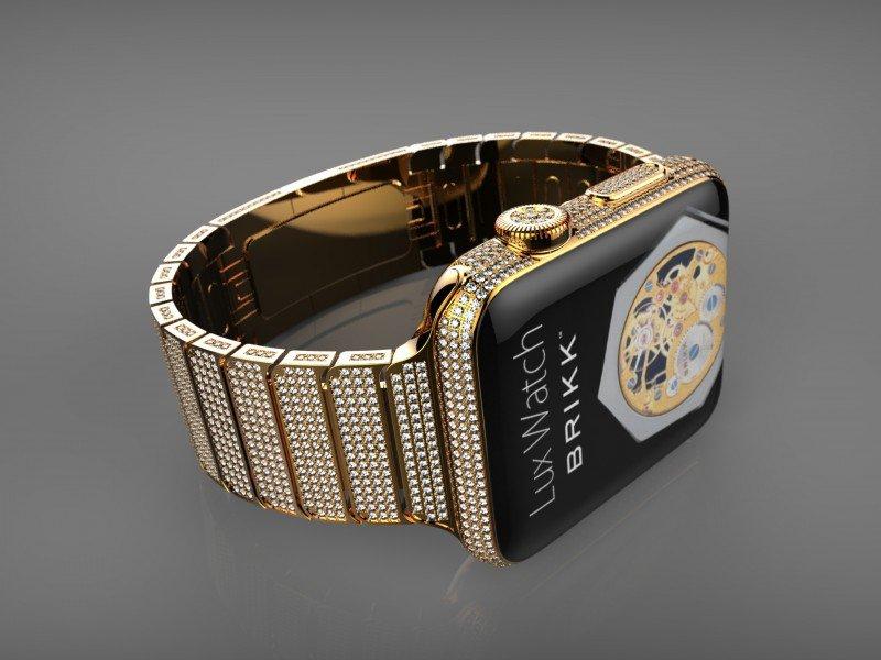Золотые с драгоценными камнями Apple Watch