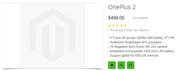 released specs OnePlus 2