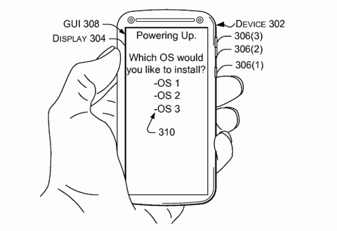 Патент Microsoft на мобильник с нескольикими системами
