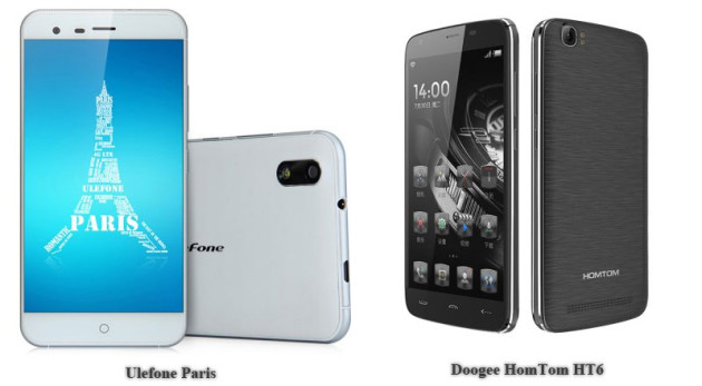 Ulefone Paris и Doogee HomTom HT6