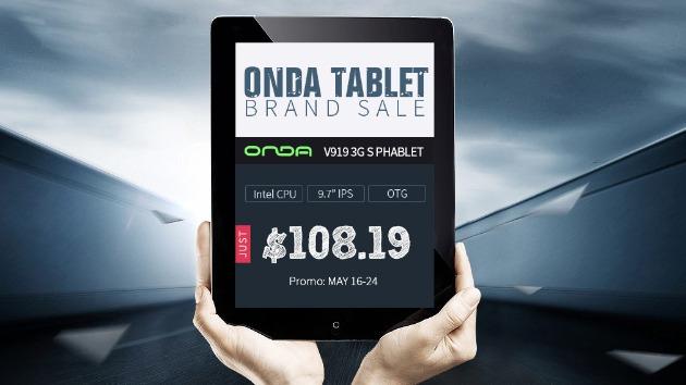 Распродажа устройств Onda от Gearbest