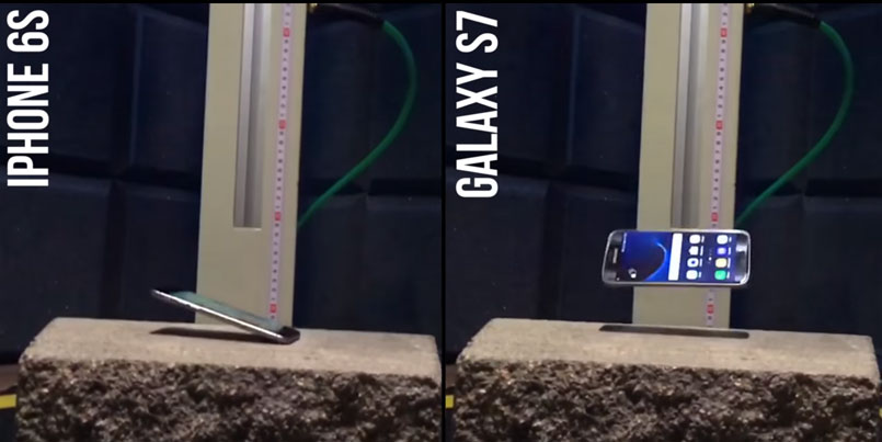 Краштест: iPhone 6S против Galaxy S7