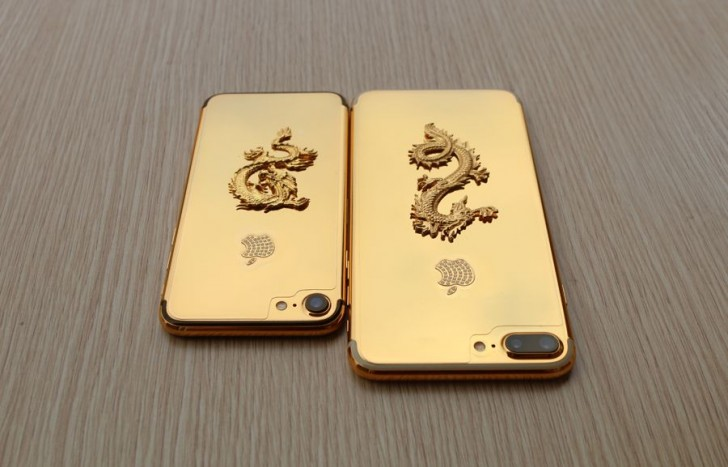 iPhone 7 и iPhone 7 Plus с золотым покрытием