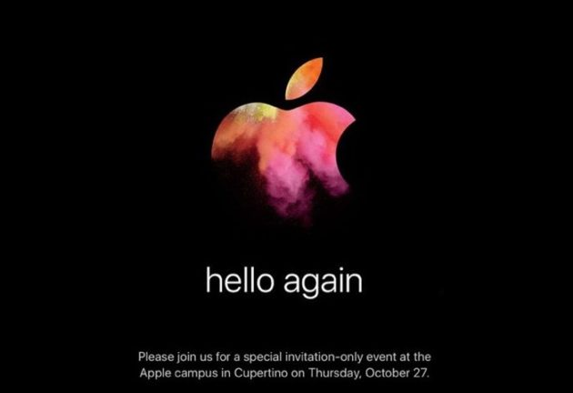 Apple Mac event on 27of oktober