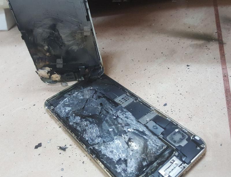 Сгорела батарея в Apple iPhone 6S