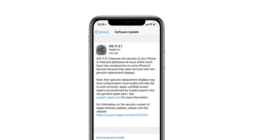 Apple iOS 11.3.1